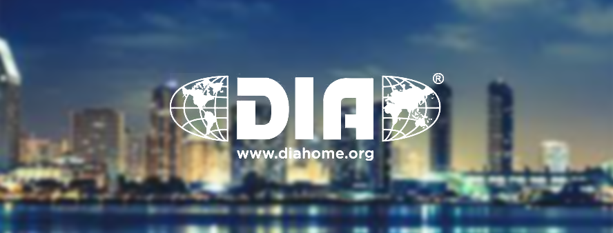 The image shows DIA annual meeting for clinical research development